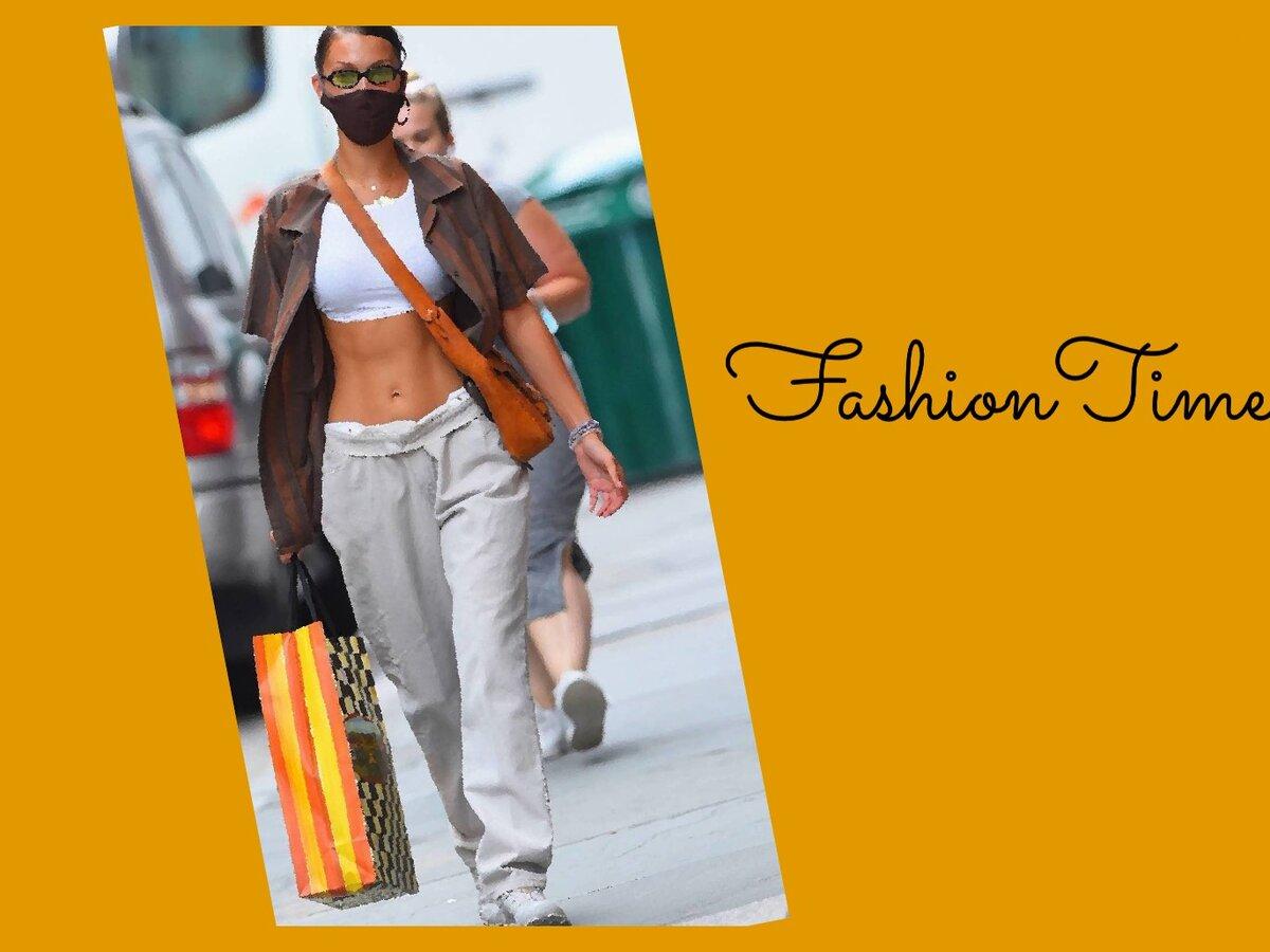 Белла Хадид в джинсах «Daddy jeans»