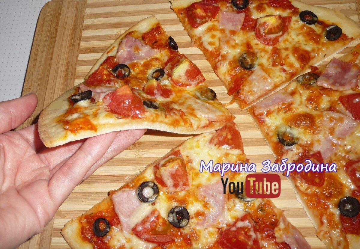 Научилась готовить тонкую пиццу по рецепту Итальянского повара: (делюсь новым рецептом)